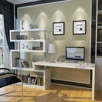 Elegant-corner-desk-bookshelf-corner-desk-with-bookshelf-optimal-for-organizing-summer-desks